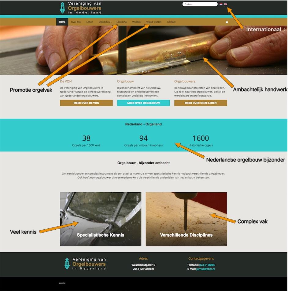 Nieuwe website VON