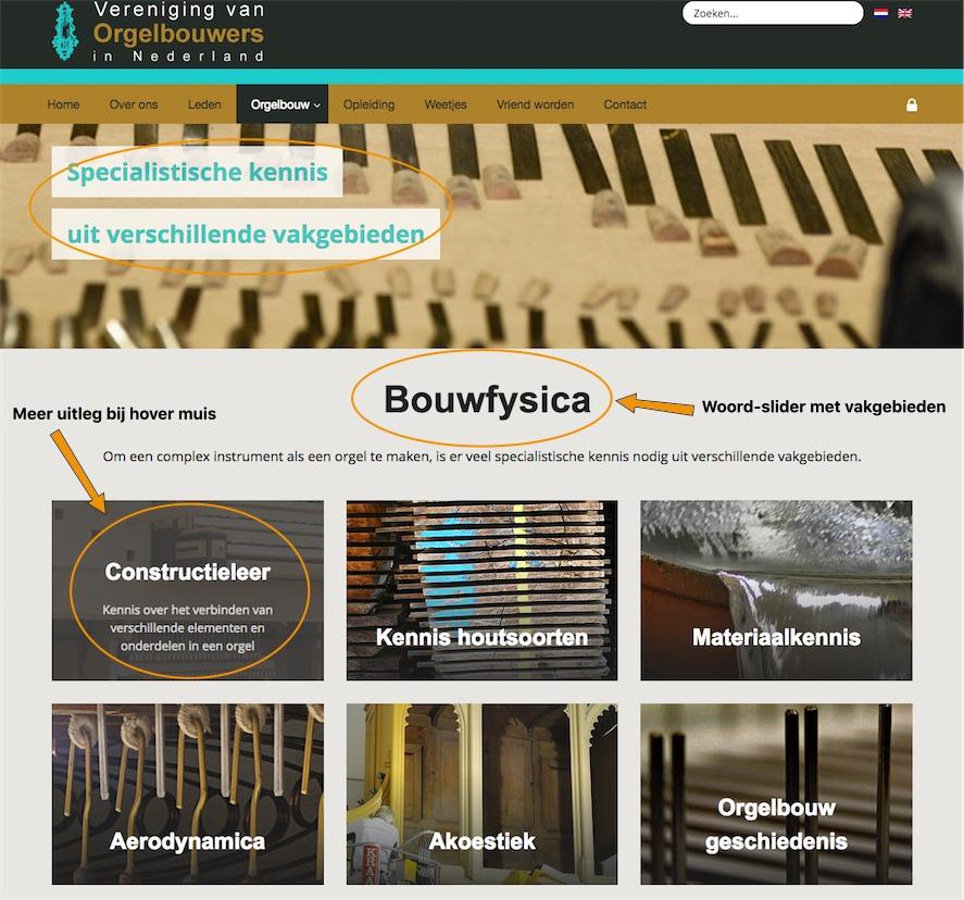 Woordslider Kennis - website VON